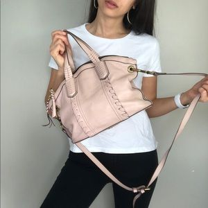 ORYANY Pink Leather Crossbody Bag purse